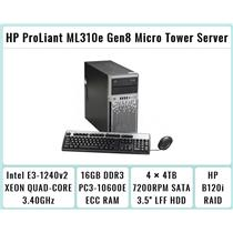 HP ProLiant ML310e Gen8 Tower + E3-1240 v2 Quad-Core Xeon 3.4GHz + 16GB RAM