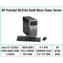 HP ProLiant ML310e Gen8 Tower + E3-1220 v2 Quad-Core Xeon 3.1GHz + 16GB RAM