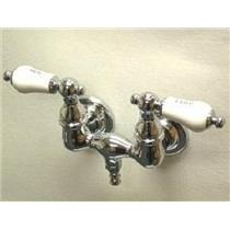 """Kingston Brass CC34T1 Vintage 3-3/8"""" Center Wall Mount ClawFoot Tub Filler Faucet - Polished Chrome"""