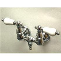 "Kingston Brass CC36T1 Vintage 3-3/8"" Center Wall Mount ClawFoot Tub Filler Faucet - Polished Chrome"