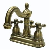 Kingston Bathroom Sink Faucet Vintage Brass KB1603AX
