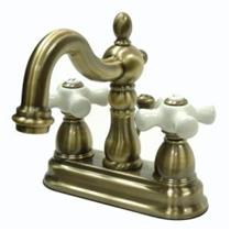 Kingston Bathroom Sink Faucet Vintage Brass KB1603PX