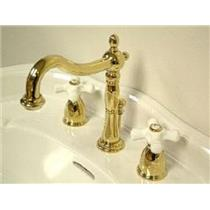 Kingston Bathroom Sink Faucet Polished Brass KB1972PX