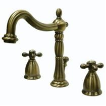 Kingston Bathroom Sink Faucet Vintage Brass KB1973AX