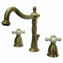 Kingston Bathroom Sink Faucet Vintage Brass KB1973PX