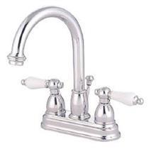 """Kingston Brass KB3611PL Restoration 4"""" Centerset Bathroom Sink Faucet - Polished Chrome"""