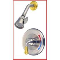 Shower Faucet Oil Satin Nickel & Brass Kingston KB639SO