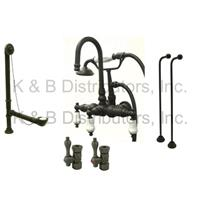 Kingston Brass CCK11T5A Vintage ClawFoot Tub Filler-Shower Mixer Kit - Oil Rubbed Bronze