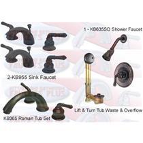 5 Pc. Oil Rubbed Bronze Magellan Faucet Suite
