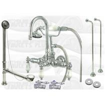 Kingston Brass CCK10T1 Polished Chrome Clawfoot Tub Kit