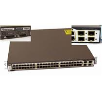 Cisco WS-C3750G-48TS-S 48 Port 10/100/1000 4 SFP Gigabit Stackable Switch, 1U