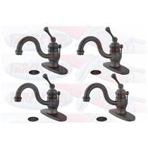"4 - Kingston Brass KB3405BL Heritage 4"" Centerset Bathroom Sink Faucet - Oil Rubbed Bronze"
