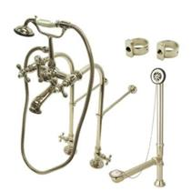 Kingston Brass CCK5178AX Clawfoot Bathtub Kit - Satin Nickel
