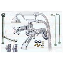 Kingston Brass Chrome Clawfoot Tub Faucet Kit - CCK265C KS265C Package