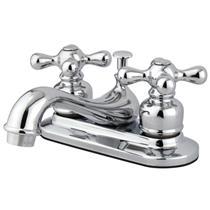 "Kingston Brass KB601AX Victorian 4"" Centerset Bathroom Sink Faucet - Polished Chrome"