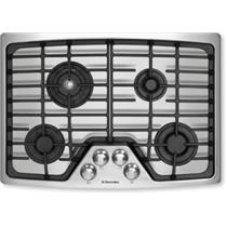 "Electrolux 30"" 4 Burners Flex-2-Fit Continuous Grates SS Gas Cooktop EW30GC55GS"