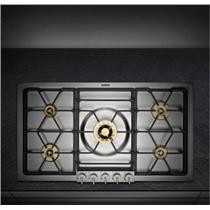 """GAGGENAU VG295114CA 36"""" Gas Cooktop with 5 Sealed Brass Burners"""