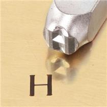 """Greek-Eta-Sign"" 1/4""-6mm-Large Stamp-Punch-Metal-Steel-Gold & Silver Bars"