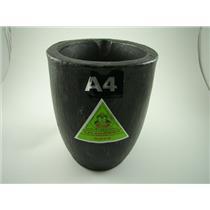 #4 - 300 oz Gold Graphite Crucible Silicon Carbide Furnace Super Salamander A4