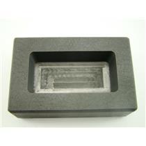 250 Gram Silver Bar High Density Graphite Ingot Mold Loaf Style 1/4 Kilo