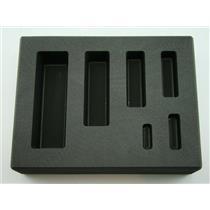 1/4-1/2-1-2-5-10 oz Gold KitKat Bar High Density Graphite Mold Silver 6-Cavities