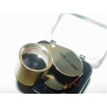 Gold Jewelers Loupe 10X Lens 21MM Nuggets Sluice Gems Minerals Diamonds