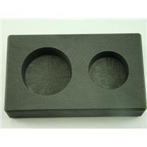 5 oz & 10 oz Round Gold Bar High Density Graphite Mold Combo - Silver Copper