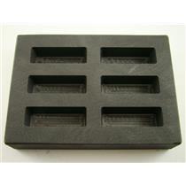 High Density Graphite KitKat Mold 3oz Gold Bar Silver 6-Cavities Scrap USA MADE