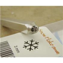 """Winter Snow Flake "" 1/8""-3mm-Stamp-Metal-Hardened Steel-Gold&Silver Bars Copper"