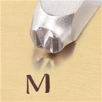 """Greek-Mu-Sign"" 1/4""-6mm-Large Stamp-Punch-Metal-Steel-Gold & Silver Bars Copper"