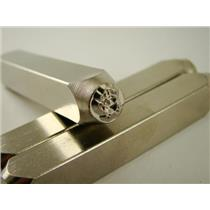 """Bongo Monkey"" 1/4""-6mm-Large Stamp-Metal-Hardened Steel-Gold & Silver Bars"