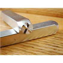 """Greek-Chi-Sign"" 1/4""-6mm-Large Stamp-Punch-Metal-Steel-Gold & Silver Bars"