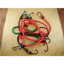 """Lot of 6 Bungee Cords - 12""""-18""""-24"""" - Medium Duty - Camping - Tie Downs"""