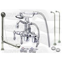 Kingston Brass CCK1302T1 Polished Chrome Clawfoot Tub Kit Package