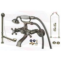 Satin Nickel Clawfoot Tub Faucet Kit - CCK265SN-DO