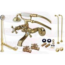 Polished Brass Clawfoot Tub Faucet Kit - CCK265PB