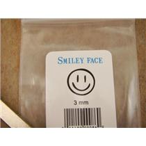 """ Happy Smiley Face "" 1/8""-3mm-Large Stamp-Metal-Hardened Steel-Gold&Silver Bars"