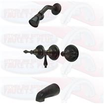 Kingston Brass KB235AL Tub & Shower Faucet - Oil Rubbed Bronze