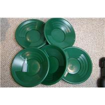 "Lot of 10-14"" Green Gold Pans + Bottle Snuffer - Mining-Panning Kit-Prospecting"