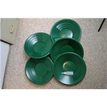 "Lot of 25-14"" Green Gold Pans + Bottle Snuffer - Mining-Panning Kit-Prospecting"