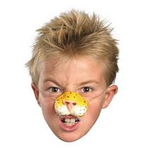 Rubber Tiger Nose on Elastic Band Funny Costume Accessory