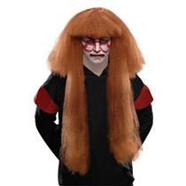 Kabuki Japanese Reddish Brown Costume Adult Wig