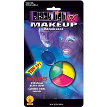 Blacklight Makeup Tri-Color Palette Colors Green Yellow Pink