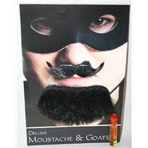 Black Spanish Amigo Deluxe Moustache and Goatee Facial Hair Kit