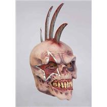 Razor Rocker Skull with Mohawk Adult Mask