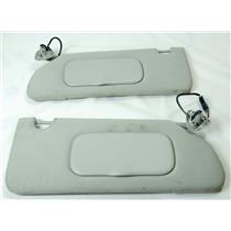 2006-2011 Buick Lucerne Sun Visor Set with Covered Lighted Mirrors Adjust Bars
