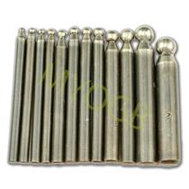 12pc Dapping Punch Set-Gold-Silver-Jewelry-Metal-Auto-Craft-Hobby