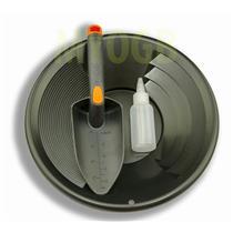 "Gold Panning Kit 12"" Black Pan - Bottle Snuffer & Scoop - Mining Prospecting"
