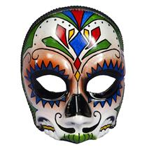 Men's Day Of The Dead Male Multi Colored Costume Mask