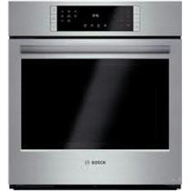 "Bosch 27"" 4.1 cu ft Convection Single Electric Wall Oven HBN8451UC SS Self-Clean"